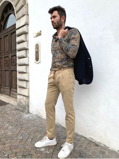Pantalone con pence officina