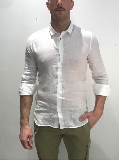 Camicia lino colletto