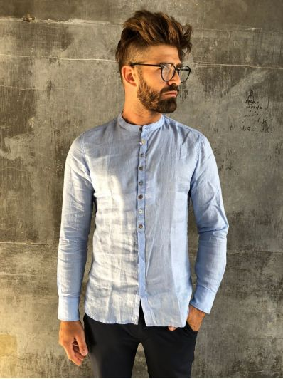 Camicia coreana lino officina