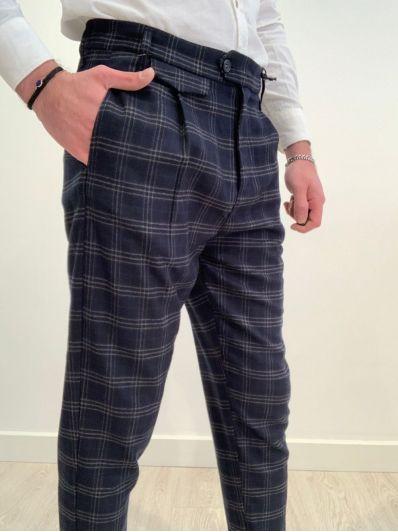 Pantalone quadri e pence