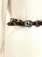Cintura ecopelle cavallino doppia fibbia
